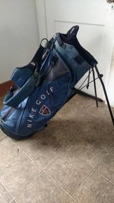Nike Golf Bag - Navy Blue w/ Pop Out Legs and Backpack Straps in St. Charles, Illinois