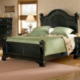 King Size Heirloom Poster Bed and Dresser Set (Black) - NEW! in Joliet, Illinois
