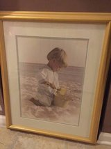 ~PROFESSIONALLY FRAMED PRINT~BOY ON BEACH~ in Joliet, Illinois