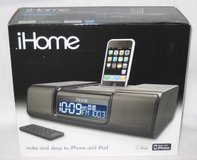 iHome iP9 Clock Radio & Audio System For iPhone & iPod in Original Box in Joliet, Illinois