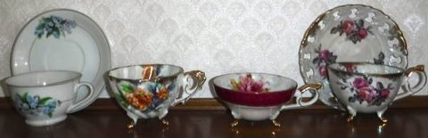 Antique Bone China coffee/tea cup & Saucer Set in Orland Park, Illinois