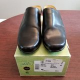 naot women's black leather clogs- mules slip on comfort shoes sz 40 us 9 in Glendale Heights, Illinois