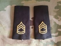 Pair (large/male) Army Sergeant First Class  E-7 embroidered shoulder board in Fairfax, Virginia