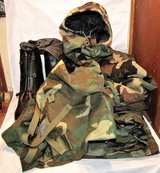 military chemical protective biological suit boots gloves medium long woodland in Fort Lewis, Washington