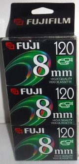 New! Fuji P6-120 8mm HQ Video Cassette Tapes ~ 3 Pack in Lockport, Illinois