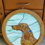 Stained Glass Framed Dog in Schaumburg, Illinois