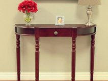 Frenchi Storage Console Table (Cherrywood) NEW! in Naperville, Illinois