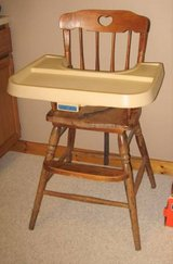 FISHER PRICE Vintage Wood High Chair in Joliet, Illinois