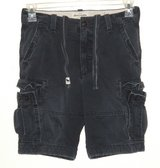 Abercrombie & Fitch Blue Drawstring Waist Cargo Shorts Boys 14 Measures 27 in Morris, Illinois