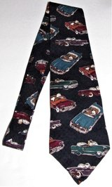peanuts cool wheels necktie 100% silk novelty blue tie charlie brown snoopy cars in Tacoma, Washington