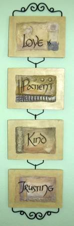 Love is.. Patient Kind Trusting Wall Plaque by Home Interiors in Orland Park, Illinois