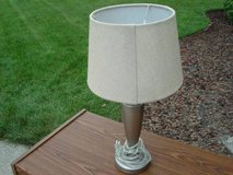 pewter table lamp (new) in Joliet, Illinois