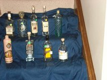 assorted empty whiskey bottles - can be used for decor purposes in Joliet, Illinois