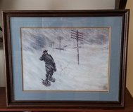 "BLIZZARD OF 1888 26"" X 21"" WOODEN FRAMED PAINTING in Elgin, Illinois"