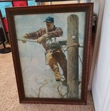 "NORMAN ROCKWELL ""TELEPHONE LINEMAN"" NORMAN ROCKWELL FRAMED PAINTING in Elgin, Illinois"