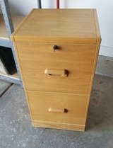 WOOD LIKE 2 DRAWER FILE CABINET WITH KEY in Elgin, Illinois