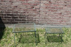 Two Patio Side Tables Iron in Spring, Texas