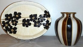 Home Decor - Hand Painted Serving Platter & Vase in Chicago, Illinois