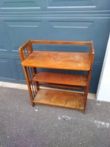 Mission style vintage book shelf display in Fairfield, California