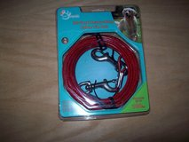 pet trends 30 foot heavy duty cable tie out up to 100 lbs -red in Naperville, Illinois