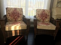 ~WICKER CHAIRS AND CUSHIONS~LIKE NEW~ in Morris, Illinois