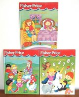 3 Vintage 1998-99 Fisher Price HC Book Lot Mother Goose Counting Rhymes Lullabies in Oswego, Illinois