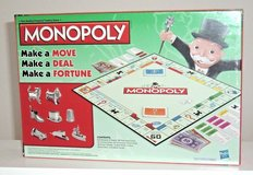 NEW Hasbro Monopoly Classic Edition Traditional Family Board Game w Cat Token in Morris, Illinois