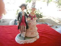 Beautiful Ceramic statue of a medieval  Couple in Yucca Valley, California