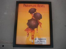 "Colorful vintage print ""PARAPLUIE-REVEL"" in Yucca Valley, California"