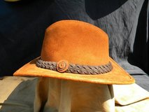 Western Leather Hat in great condition size 7 in Camp Lejeune, North Carolina