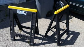 A Pair of Plastic Fold-up Sawhorses in Fairfield, California