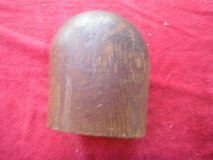 rare early antique wooden wig hat stand form or millinery block in Yucca Valley, California
