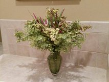 Floral Arrangement in Green Bubble Vase in Orland Park, Illinois