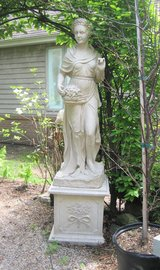"""Four Seasons Goddesses - WINTER STATUE with Plinth / Base - Concrete Resin 61.5"""" in Chicago, Illinois"""