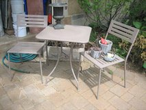 Patio Table and 2 Chairs - Metal in Aurora, Illinois