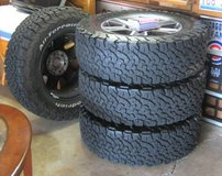 4 BF Goodrich LT275/65R18 Tires with Ford F-150 Stock Wheels & Lugnuts in Chicago, Illinois