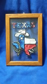 Texas Framed Painted Glass Picture in Kingwood, Texas