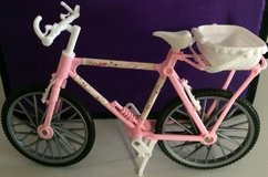 Barbie Doll Sized Toy Country Ride Bike Pink With Removable Basket in Chicago, Illinois