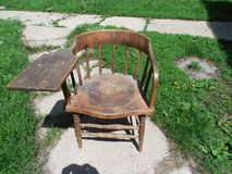 ANTIQUE DESK CHAIR-MONMOUTH COLLEGE in Chicago, Illinois