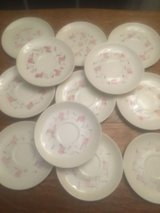 set of 12 vernon mcm vernonware tickled pink saucers & bread plates mcm dishes in Chicago, Illinois