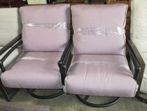 Memorial Day Sale - Pair of Outdoor Mauve Swivel Chairs in Elgin, Illinois