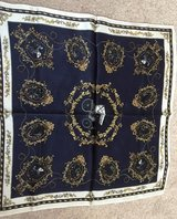 Hangzhou Jingpin Silk Scarf Dark Blue  (approx 52.5 in x 49 in) in Schaumburg, Illinois