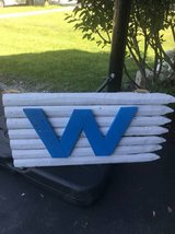 ~CHICAGO CUBS WOODEN WIN SIGN~ in Chicago, Illinois