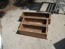 3, ALL WOOD PATIO  DECK FLOWER BOXES,GARDEN in Bolingbrook, Illinois