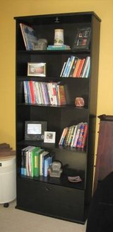 IKEA Book Case with File Drawer - Black in Joliet, Illinois