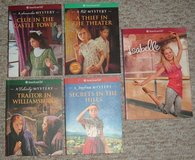 Lot of 5 American Girl Books 4 Mystery Samantha Kit Felicity Josefina Isabelle in Oswego, Illinois