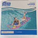 "NEW Open Water Swim 18 Pocket Pink Lounge Inflatable Float Pool Lake 74"" X 28"" in Joliet, Illinois"