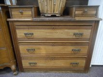 Antique Dresser with Stone in Elgin, Illinois