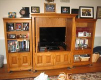 Maple Entertainment Center with Bookcases in Bolingbrook, Illinois