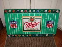 Vintage 1991 NFL Football Helmet MILLER HIGH LIFE Beer Tacker Tin Sign in Brookfield, Wisconsin